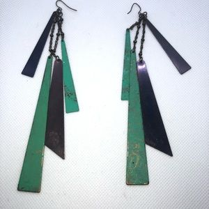 I dont know Jewelry - Rustic Geometric Earrings